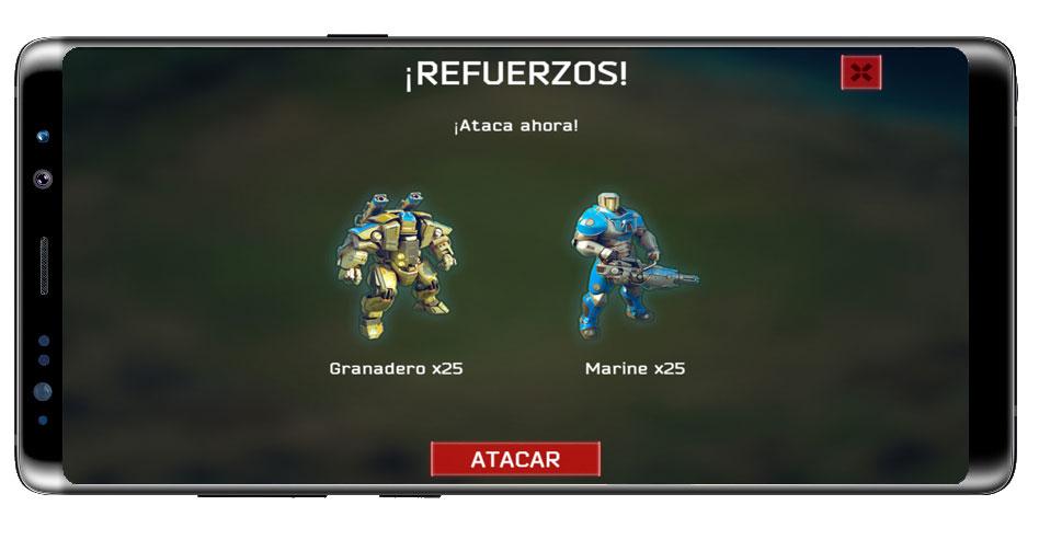 Tropas en el juego Battle for the Galaxy