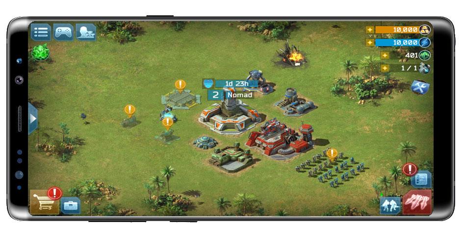 base propia en el juego Battle for the Galaxy