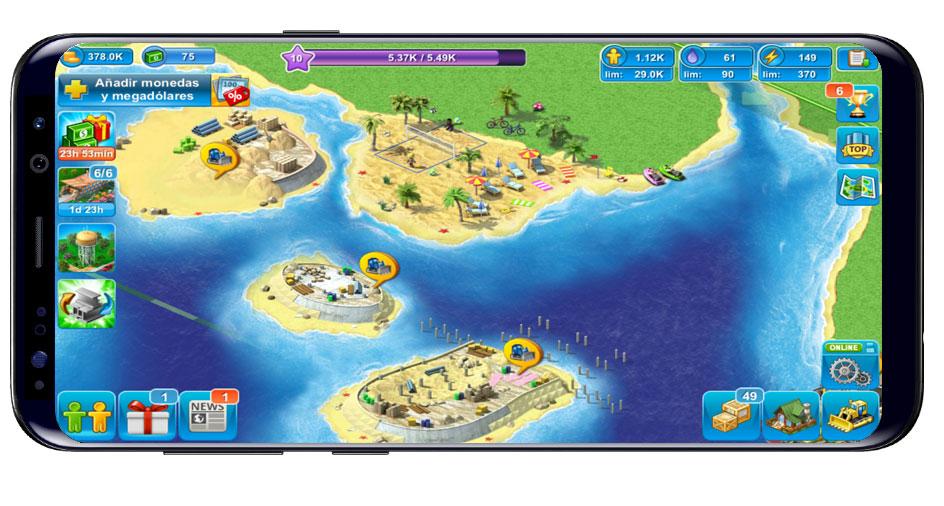 Opciones mapa Megapolis