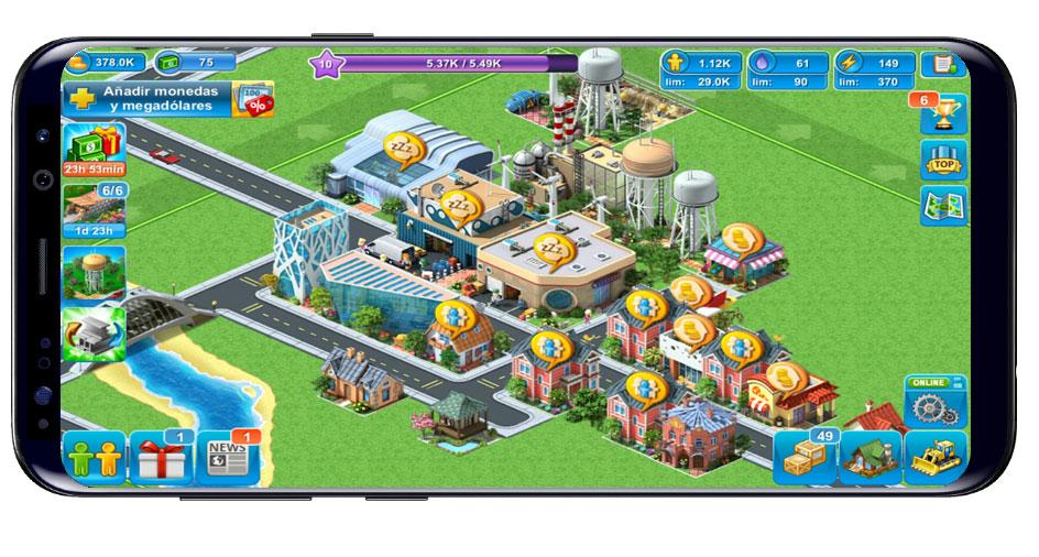 Interfaz del juego Megapolis