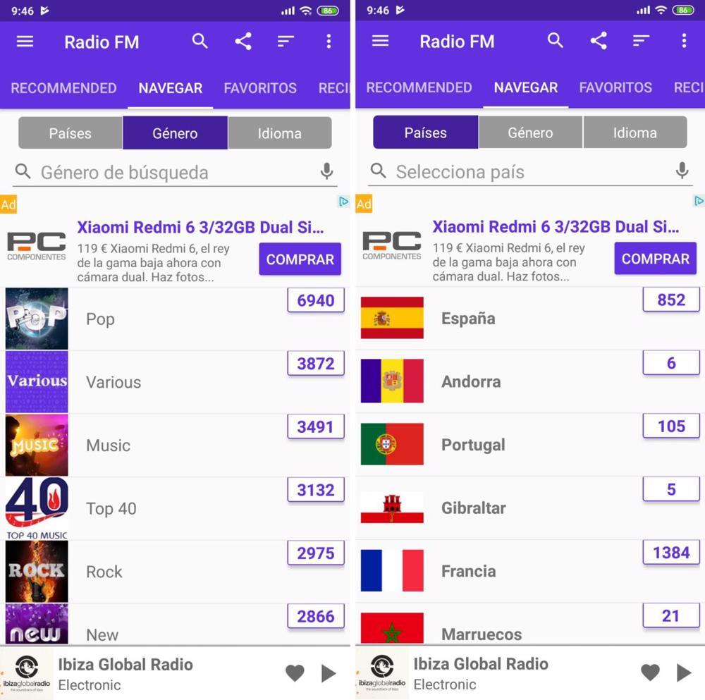 apps escuchar radio android radio fm