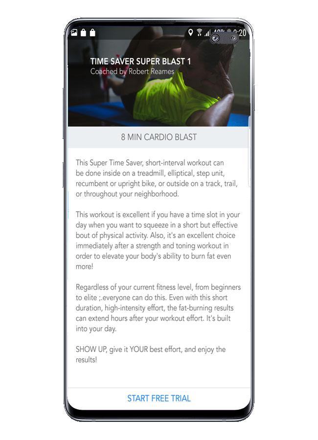 Explicación rutina en Personal Fitness Coach