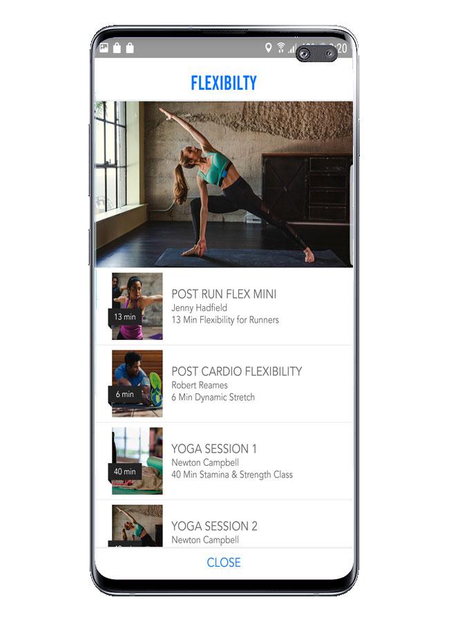 Posibilidades en rutinas en Personal Fitness Coach