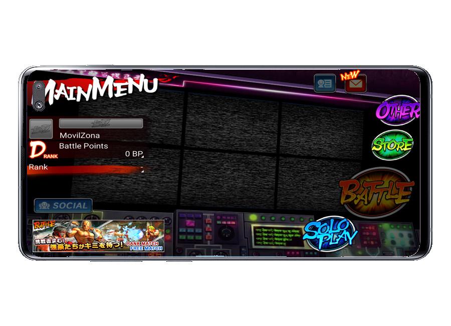 Menú en Street Fighter IV Champion Edition