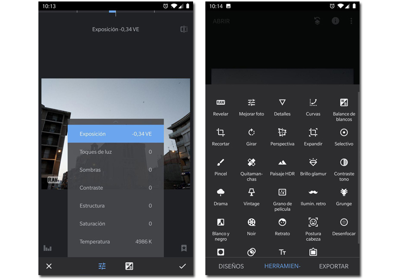 editores de fotos android snapseed