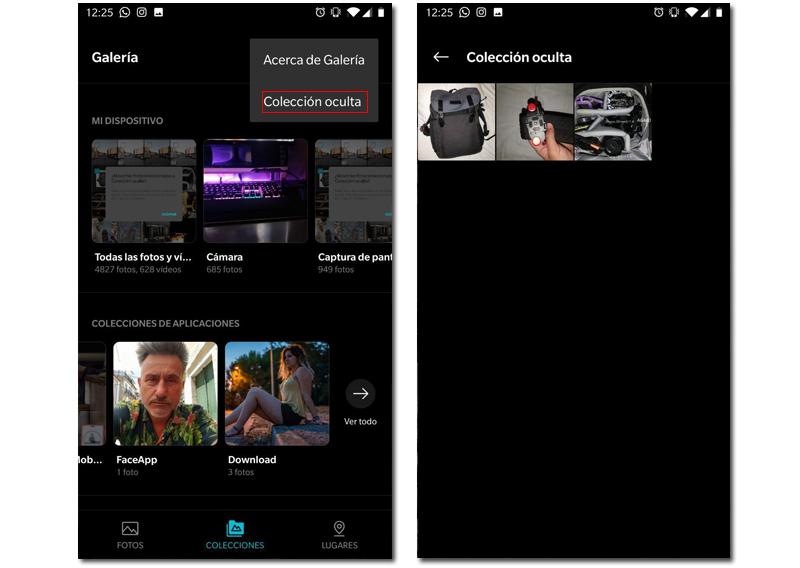 OnePlus galería oculta