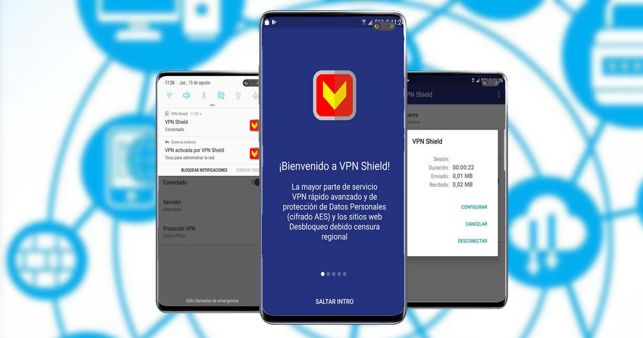 Imagen de la aplicación VPN Shield