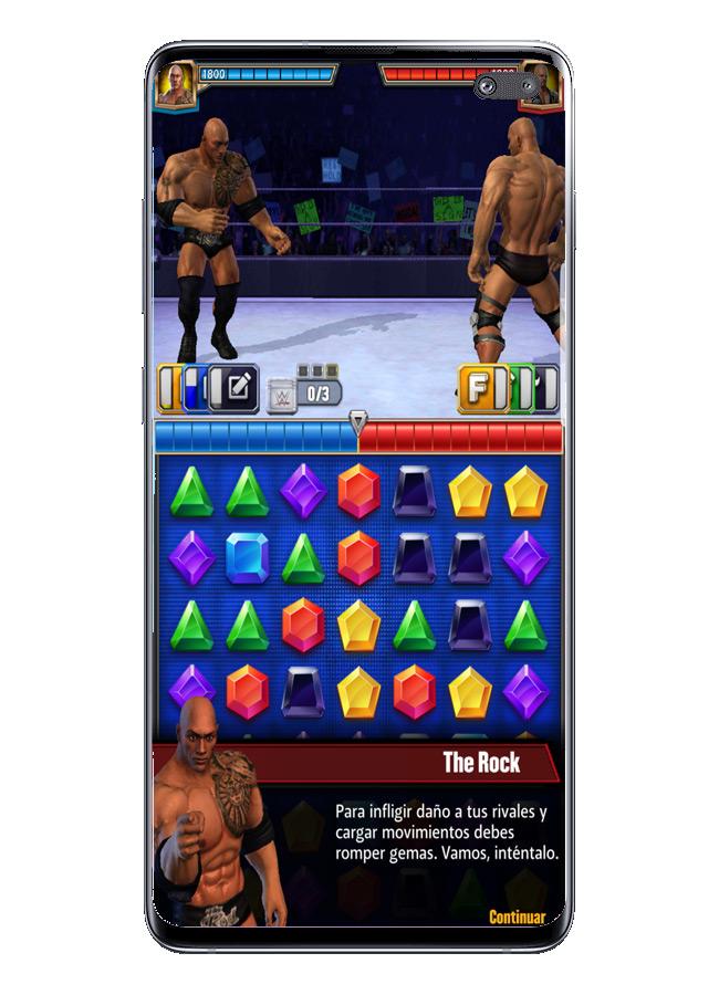 Interfaz luchas en WWE Champions 2019