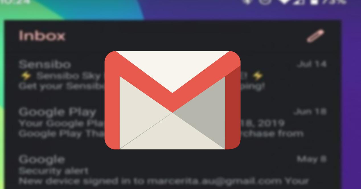 Gmail Modo oscuro widget