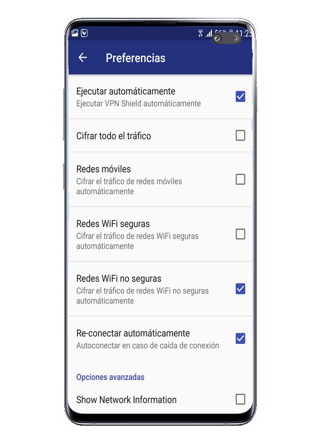 Configuración de VPN Shield