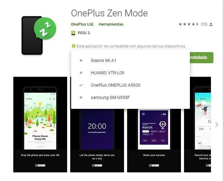 oneplus modo zen play store
