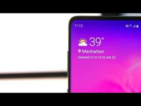 Samsung widget tiempo