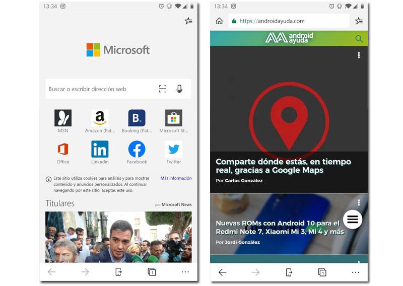 Microsoft Edge alternativas google chrome