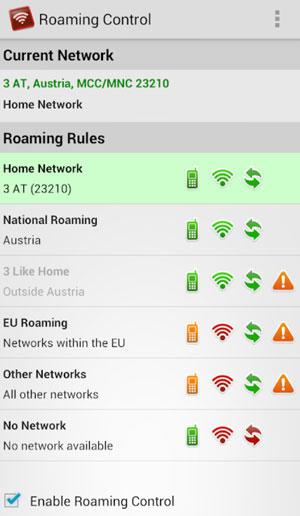 roaming control
