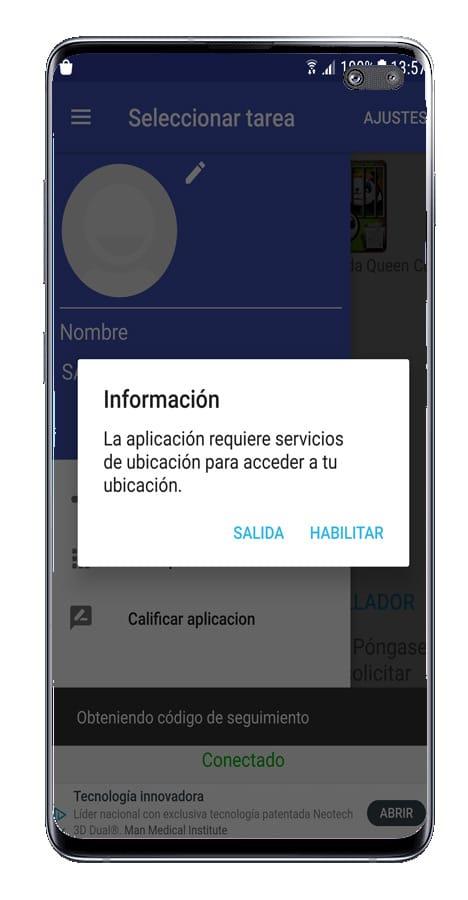 Inicio de la aplicación Live GPS Cell Phones
