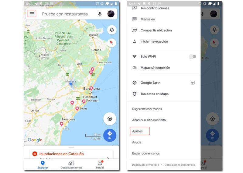 velocímetro google maps