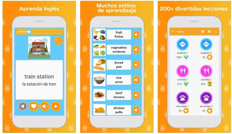 aprende inglés app educativa
