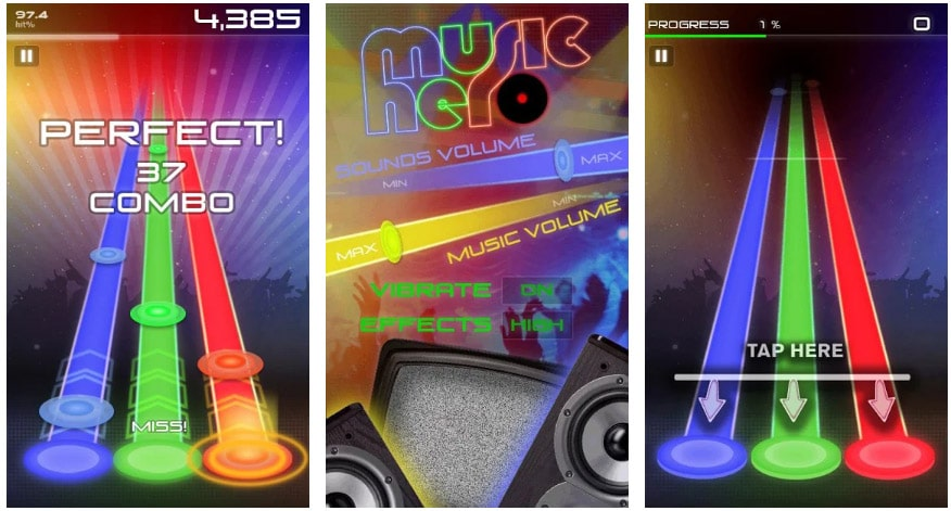 music hero juegos musicales