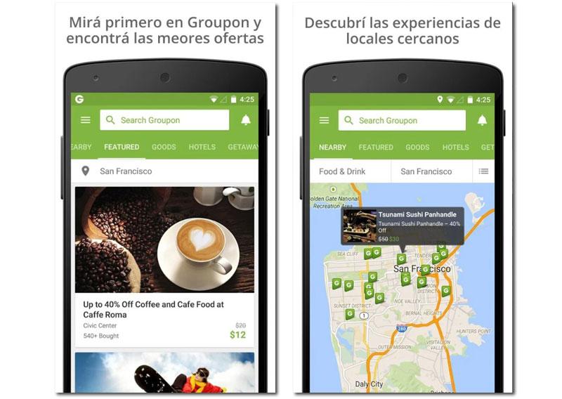 groupon apps para comprar regalos