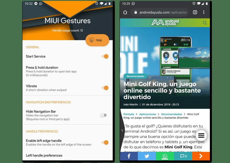 MIUI 10 Navigation Gestures