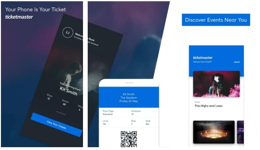 ticketmaster apps para comprar regalos