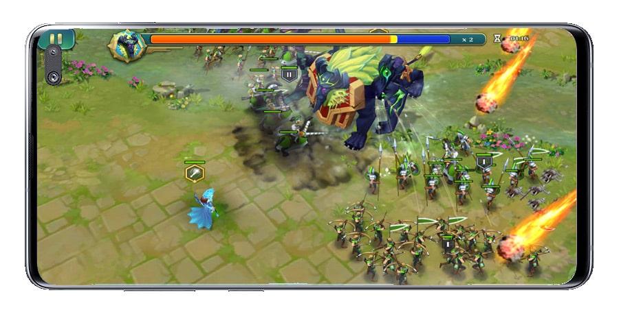 Art of Conquest batalla con héroe
