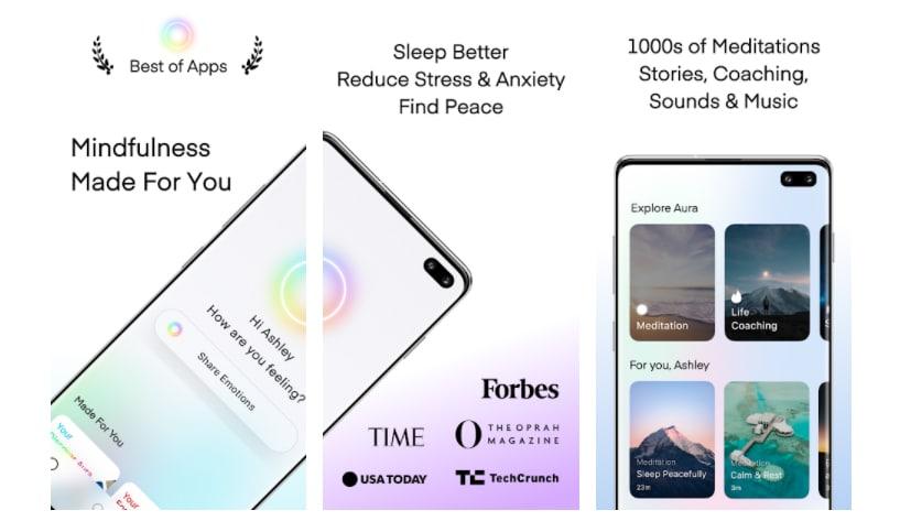 aura mindfulness apps para aprender a meditar