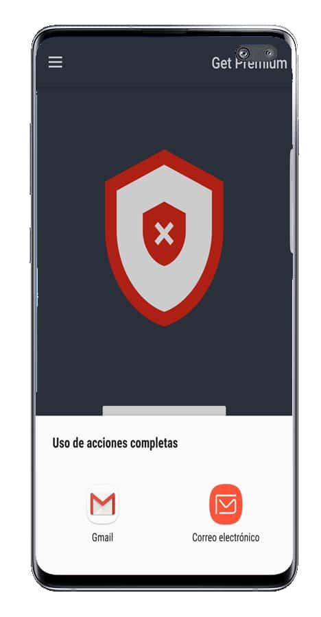 Compartir aplicación Social Network VPN
