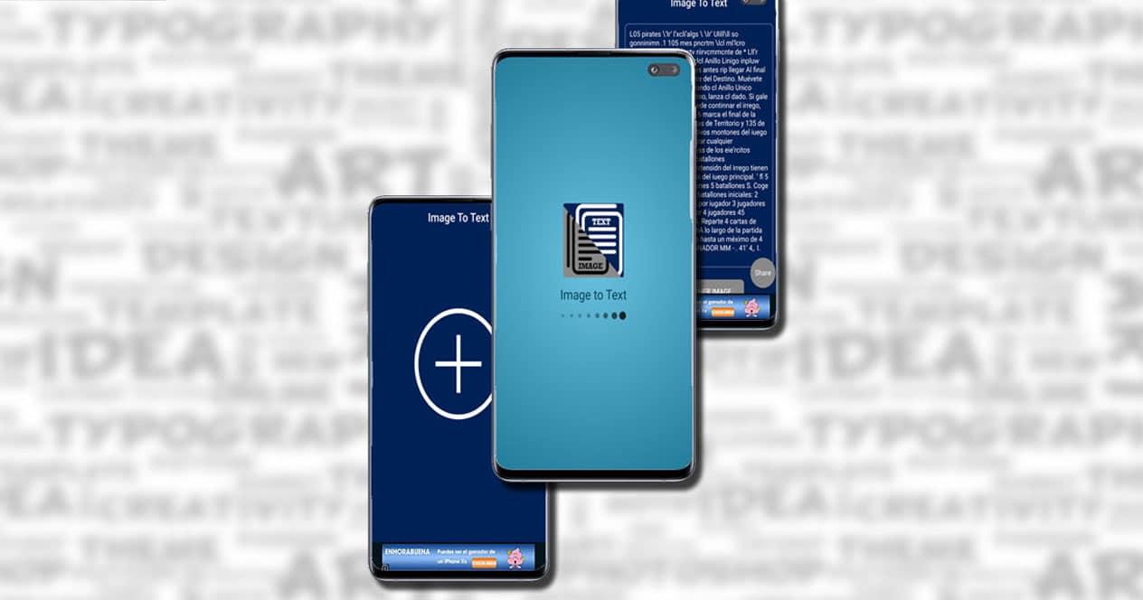 Capturas de las aplicación Image to Text
