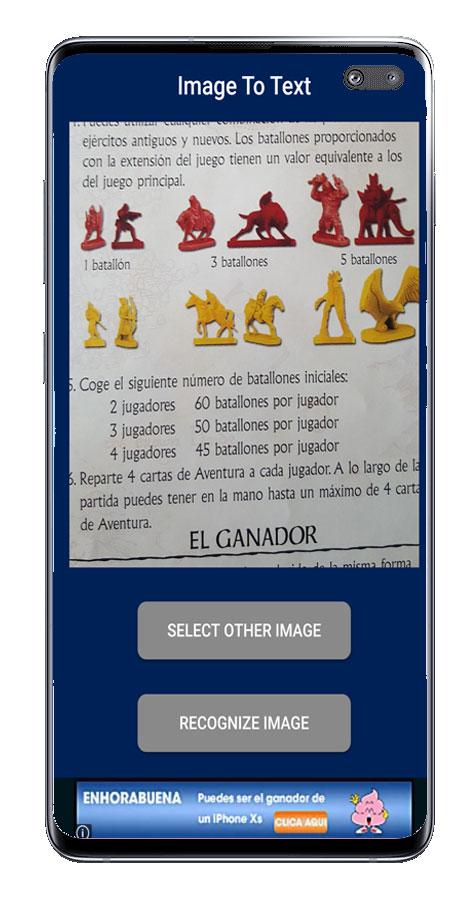Resultado imagen Image to Text