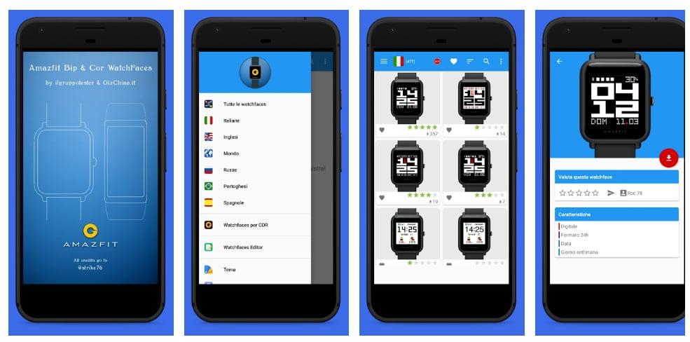 amazfit watchfaces apps xiaomi amazfit bip