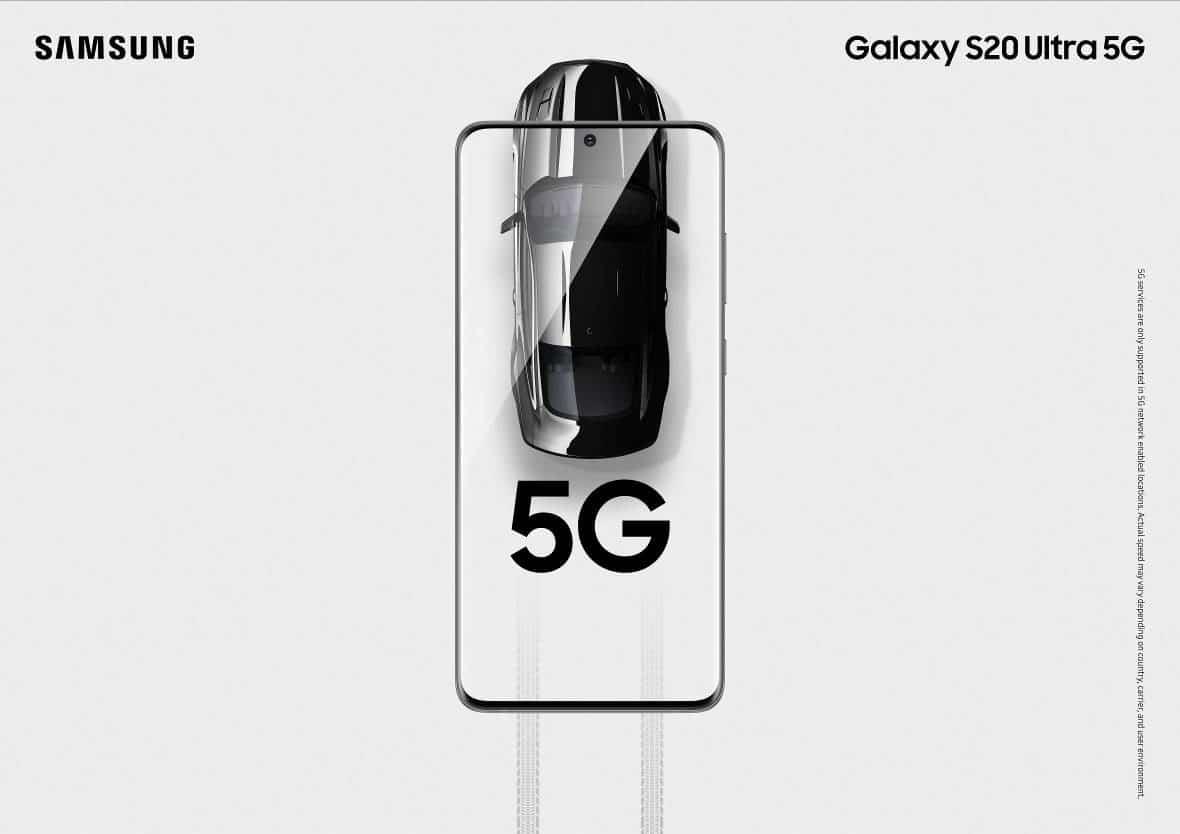 Samsung Galaxy S20 5G coche