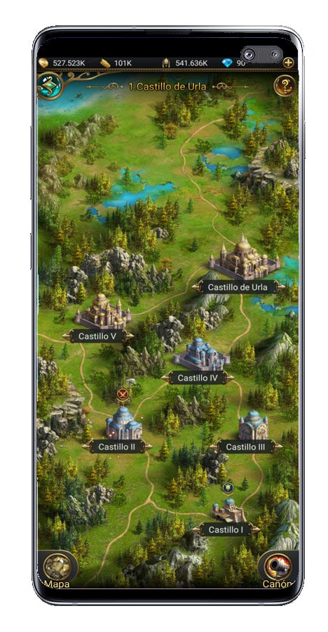 Mapa del juego Game of Sultans