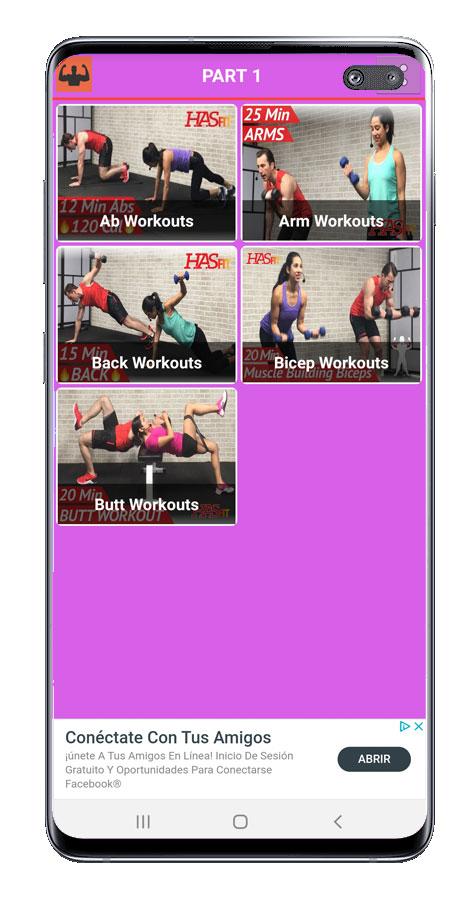Rutinas de la aplicación Gym workout