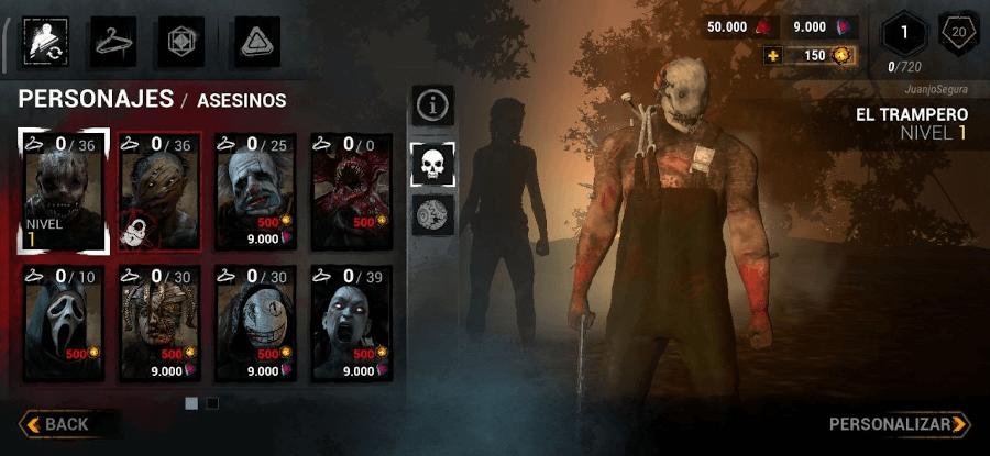 personajes asesinos de Dead by Daylight
