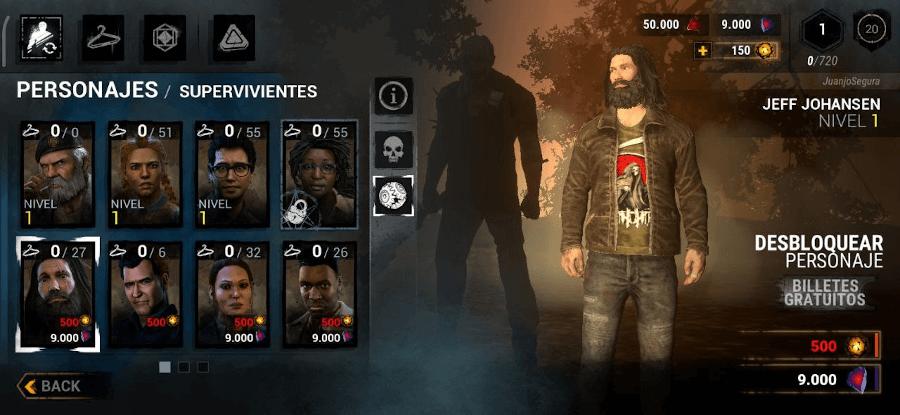 personajes supervivientes de Dead by Deadlight