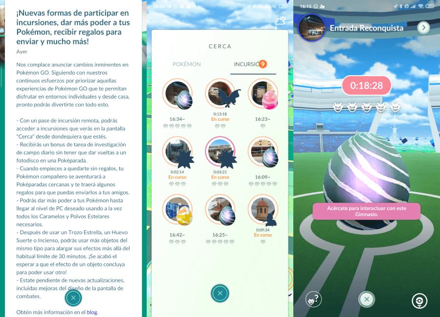Novedades en Pokémon Go con incursiones remotas