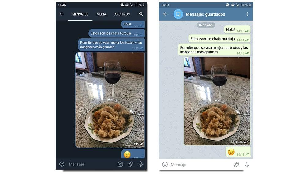 telegram x chats burbuja