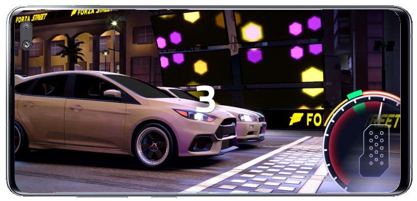 Comenzar competición en el juego de carreras Forza Street
