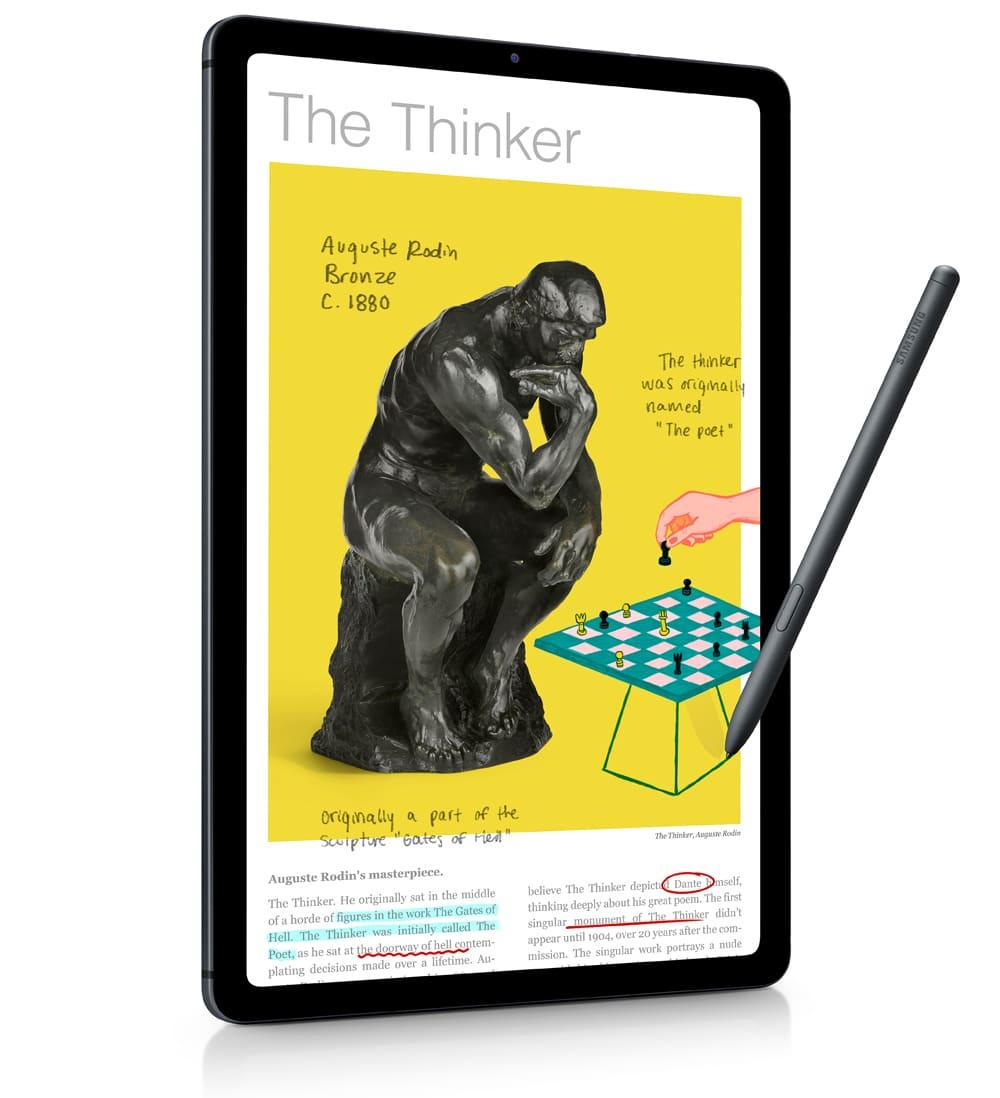 Uso pantalla del tablet Samsung Galaxy Tab S6 Lite