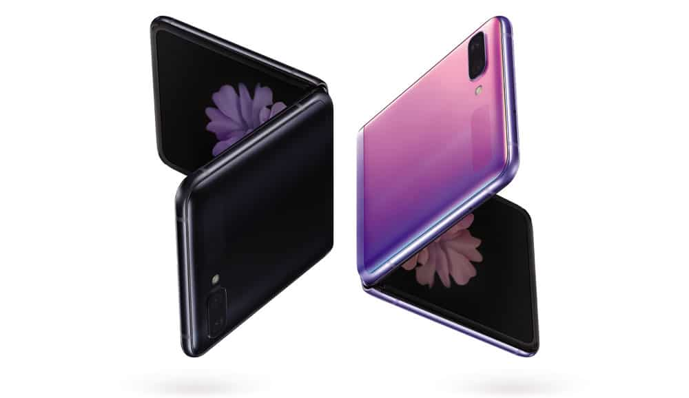 Aspecto Samsung Galaxy Z Flip de color púrpura