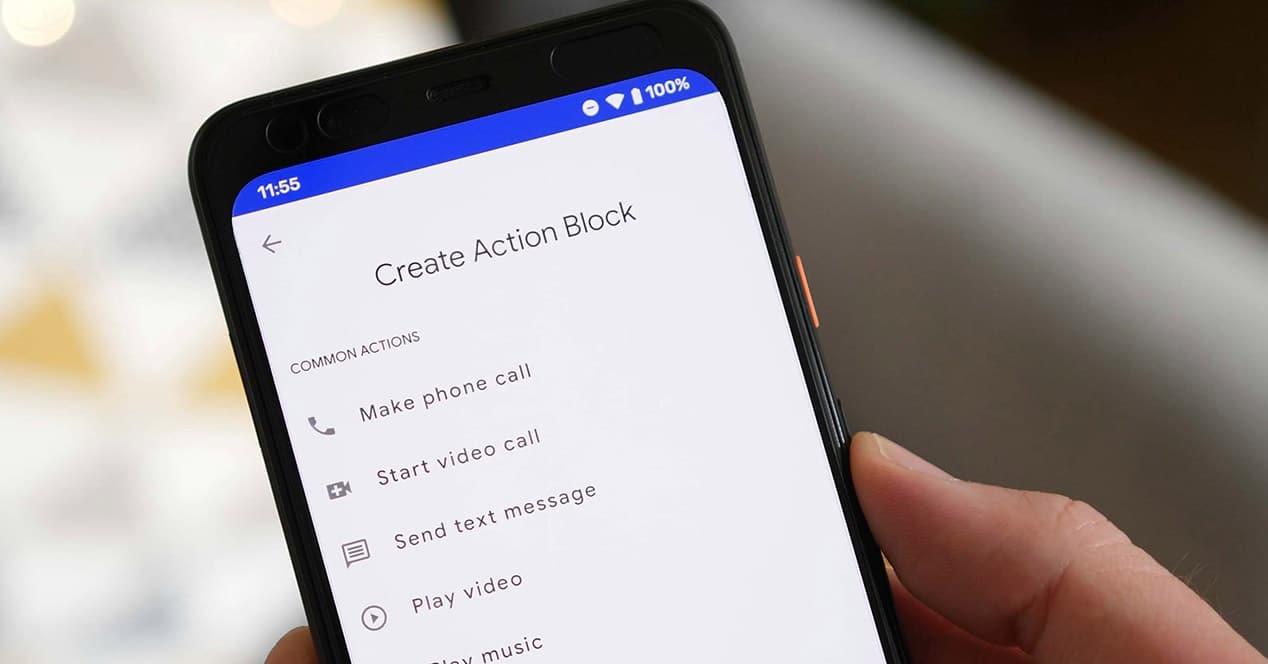crear widget con action blocks