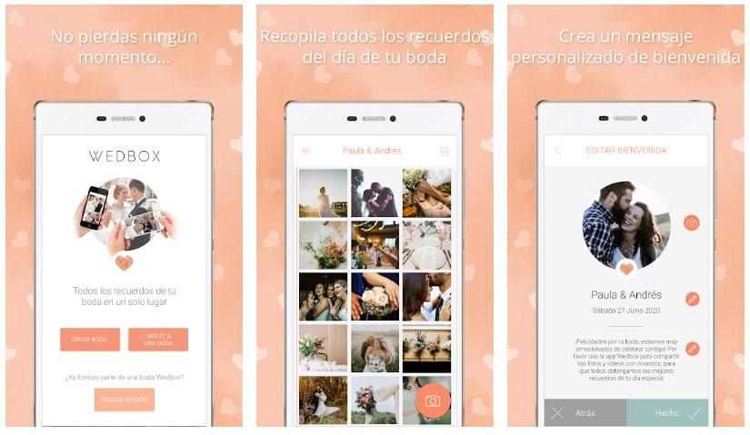 álbum fotos wedbox apps útiles para bodas