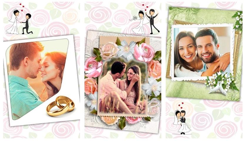 marcos de fotos felicitar boda