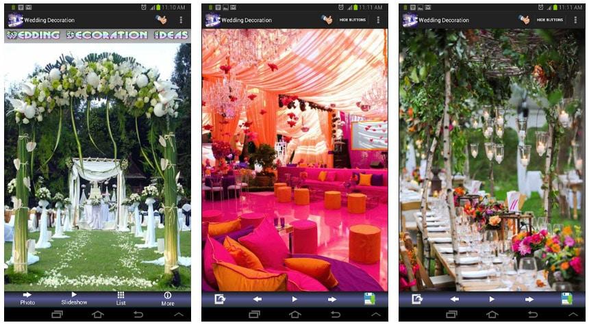 wedding decoration ideas apps útiles para bodas