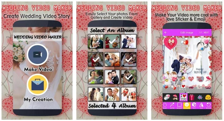 wedding video maker apps útiles para bodas