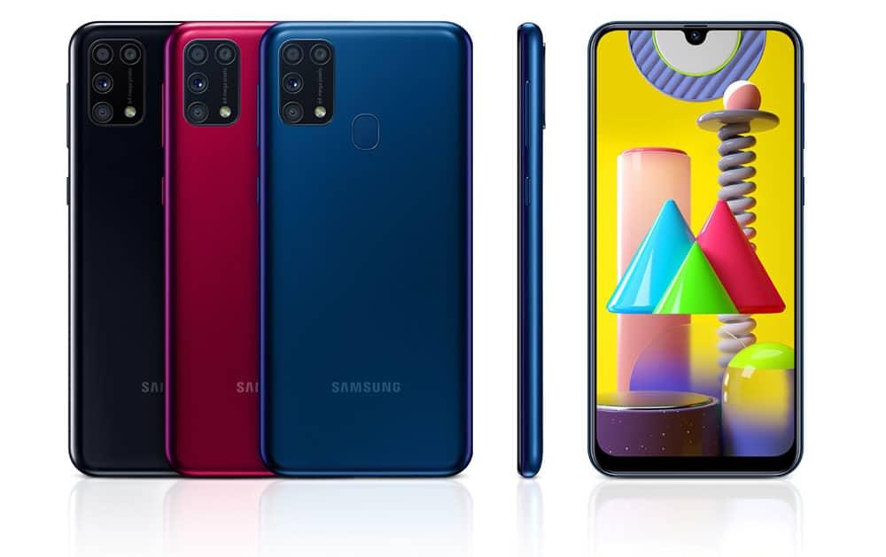 Colores del smartphone Samsung Galaxy M31