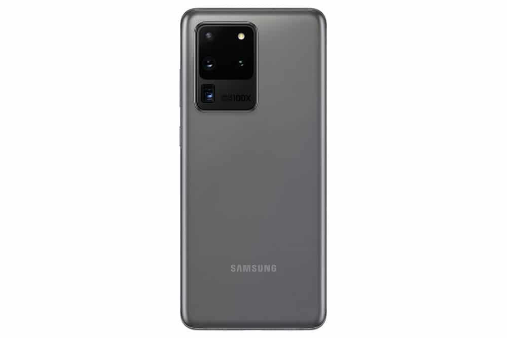 Imagen trasera del Samsung Galaxy S20