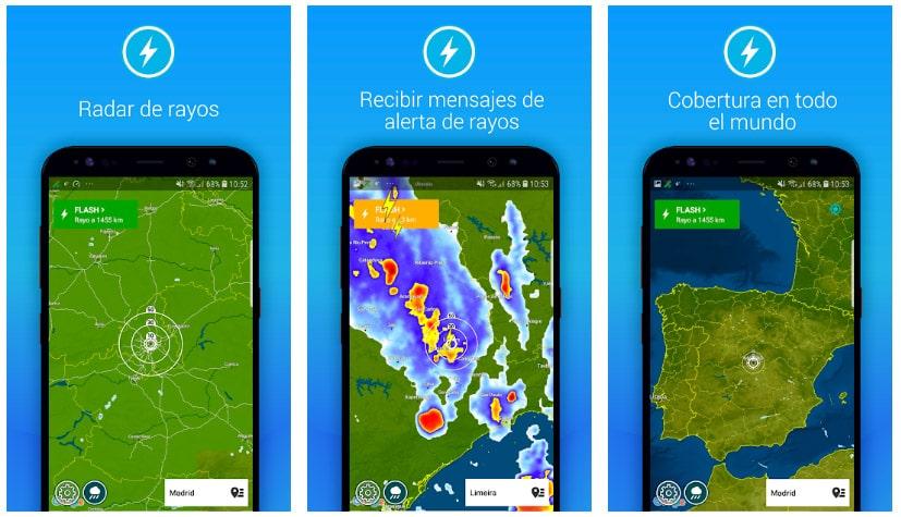 alerta rayos apps alertas