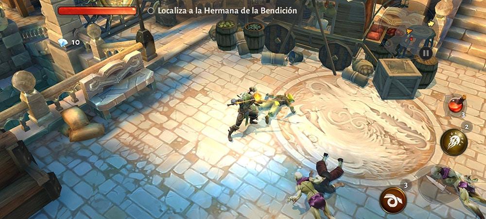 dungeon hunter 5 gráficos